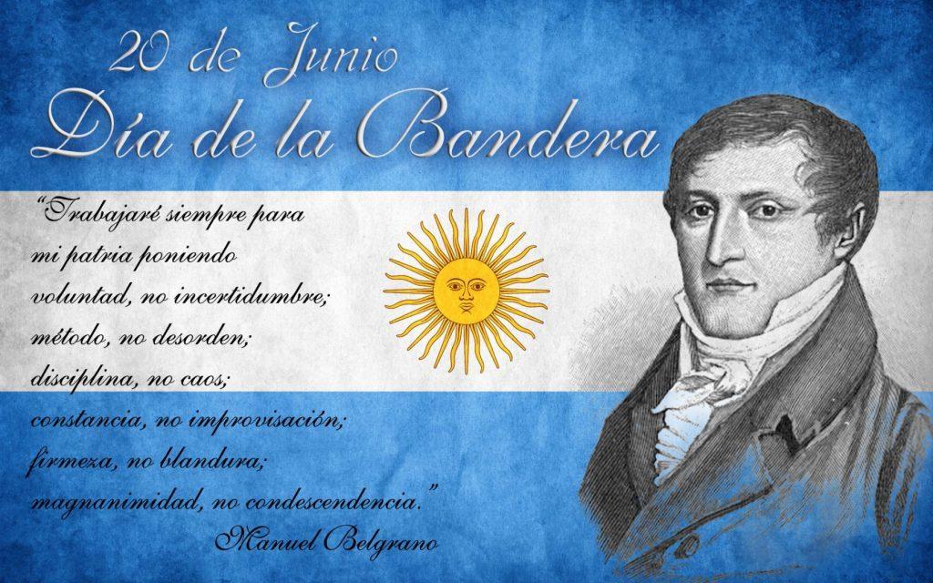 20 DE JUNIO: DÍA DE LA BANDERA EN CONMEMORACIÓN DEL FALLECIMIENTO DEL GENERAL MANUEL BELGRANO