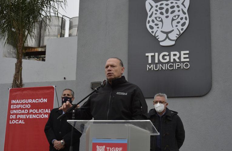 Julio Zamora y Sergio Berni inauguraron la nueva sede de la Policía Local de Tigre